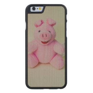 Juguete rosado del cerdo funda de iPhone 6 carved® de arce