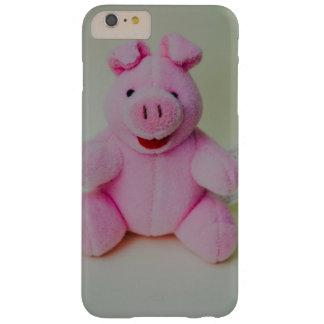 Juguete rosado del cerdo funda de iPhone 6 plus barely there