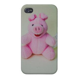 Juguete rosado del cerdo iPhone 4 cobertura
