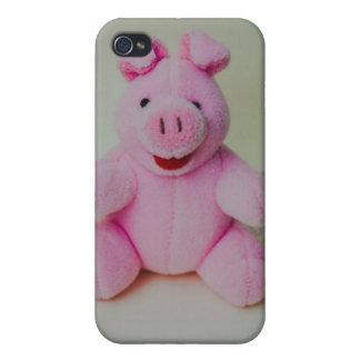 Juguete rosado del cerdo iPhone 4 funda