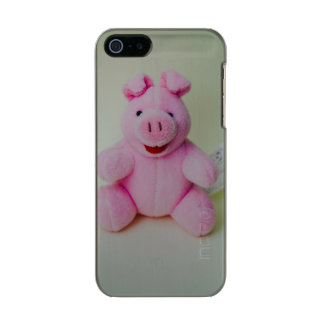 Juguete rosado del cerdo carcasa de iphone 5 incipio feather shine
