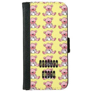 juguete rosado lindo del oso de peluche carcasa de iPhone 6
