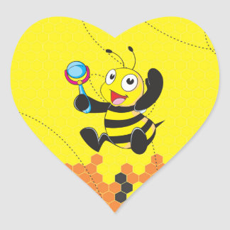 Juguete sonriente feliz amarillo lindo del pegatina en forma de corazón
