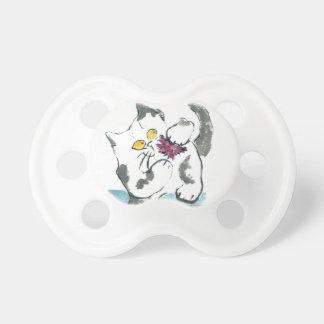 Juguete y gatito, Sumi-e del hilado Chupetes De Bebé