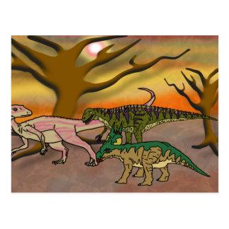 Jugueteo del dinosaurio tarjeta postal