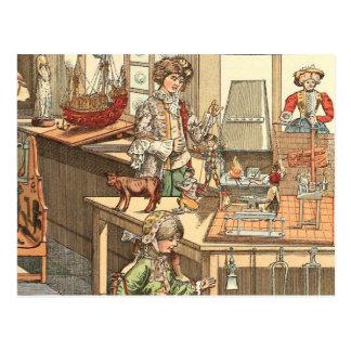 Juguetería del navidad del vintage tarjetas postales
