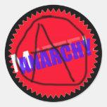 Juguetes de la anarquía etiqueta redonda