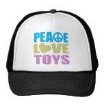 Juguetes del amor de la paz gorros bordados