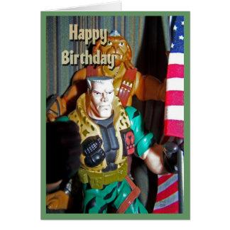 Juguetes del feliz cumpleaños para los muchachos tarjeta de felicitación