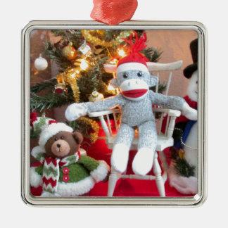 Juguetes del navidad adorno navideño cuadrado de metal