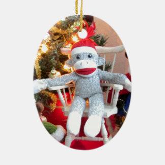 Juguetes del navidad adorno navideño ovalado de cerámica