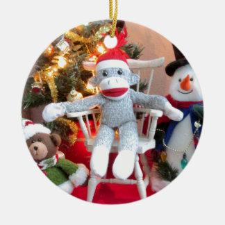 Juguetes del navidad adorno navideño redondo de cerámica