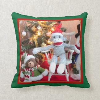 Juguetes del navidad cojín decorativo