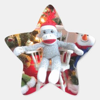 Juguetes del navidad pegatina en forma de estrella