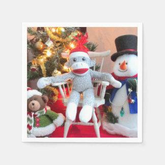 Juguetes del navidad servilleta de papel