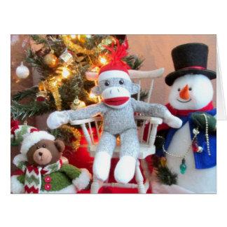 Juguetes del navidad tarjeta de felicitación grande