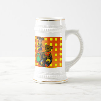 Juguetes del oso y de la bola de la muñeca taza de café
