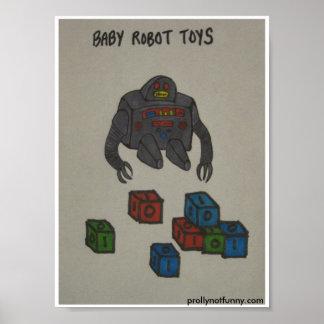 Juguetes del robot del bebé poster