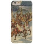 Juguetes del trineo del reno de Papá Noel del Funda Para iPhone 6 Plus Barely There