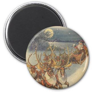 Juguetes del trineo del reno de Papá Noel del navi Imán De Frigorífico
