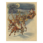 Juguetes del trineo del reno de Papá Noel del Posters