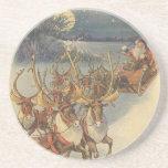 Juguetes del trineo del reno de Papá Noel del Posavasos Manualidades