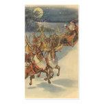 Juguetes del trineo del reno de Papá Noel del Tarjetas De Visita