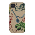 Juguetes del vintage Case-Mate iPhone 4 funda