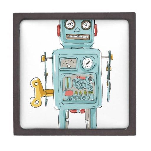 juguetes del vintage del robot caja de joyas de calidad
