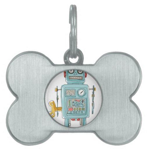 juguetes del vintage del robot placa mascota