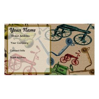Juguetes del vintage tarjetas personales