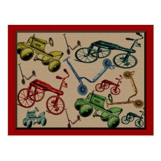 Juguetes del vintage tarjeta postal