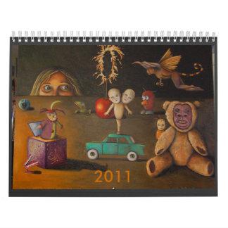 Juguetes espeluznantes increíbles, 2011 calendario de pared
