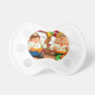 Juguetes hechos a mano de la arcilla nacional chupetes para bebés