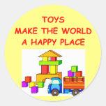 juguetes pegatina redonda