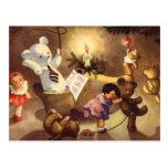 Juguetes que bailan, osos de peluche, muñecas del  tarjeta postal