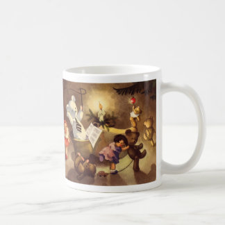 Juguetes que bailan osos de peluche muñecas del taza de café