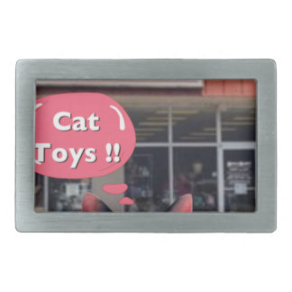 ¡Juguetes tontos del gato! Hebilla De Cinturon Rectangular
