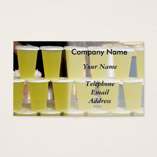 Juice and Drink Vendor Business Card