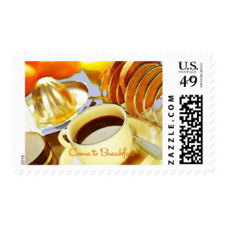 Juice and Java Come to Breakfast Stamps