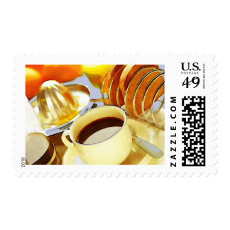 Juice and Java Postage Stamps