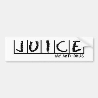 Juice Anti-Drug Car Bumper Sticker