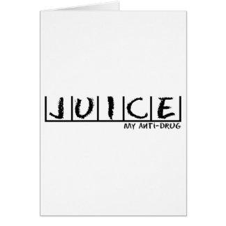 Juice Anti-Drug Card