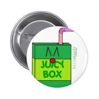 Juice Box Badge Green :) Button