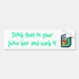 juice_box, palillo que en su caja del jugo y suc… pegatina de parachoque