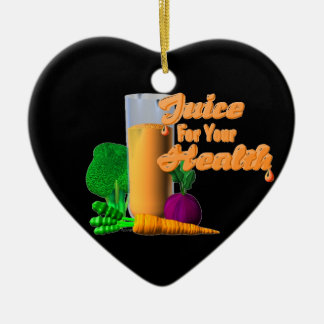 Juice For Your Health on 100+ items  Valxart.com Double-Sided Heart Ceramic Christmas Ornament