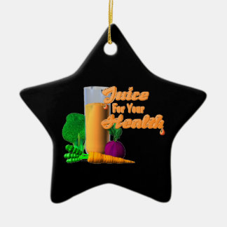 Juice For Your Health on 100+ items  Valxart.com Double-Sided Star Ceramic Christmas Ornament