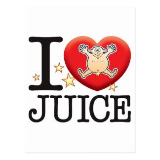 Juice Love Man Postcard