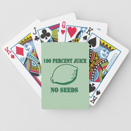 Juice No Seeds Bicycle Playing Cards