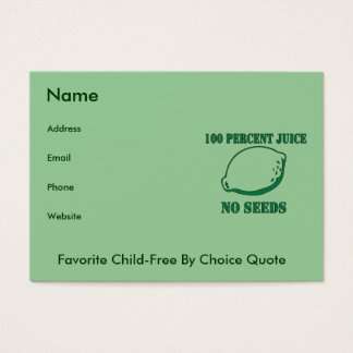 Juice No Seeds Business Card